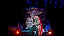 "Diana Damrau as Gilda and Željko Lucic as Rigoletto in Verdi's ""Rigoletto."""