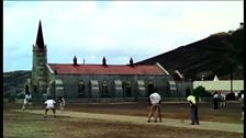 Cricket game on Ascension Island