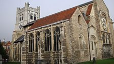 Waltham Abbey where choral composer Thomas Tallis was organist, taken by Ray (Walthamstow)