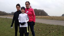 AJ, Oliver and Paola - Runners on Saturday morning