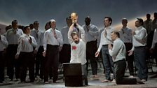 "Peter Mattei as Amfortas of Wagner's ""Parsifal."""