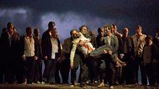 "Peter Mattei as Amfortas in Wagner's ""Parsifal."""