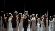 """Jonas Kaufmann (centre) as the title character of Wagner's """"Parsifal."""""""