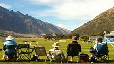 Watching New Zealand v England in Queenstown