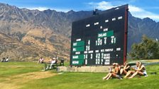 Scoreboard at Queenstown