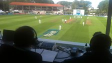The view from the TMS commentary box