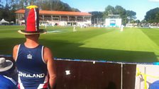 The view from the boundary edge in Dunedin
