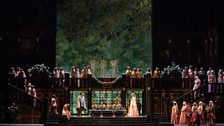 """A scene from Act I of Zandonai's """"Francesca da Rimini."""""""