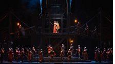 """A scene from Act II of Zandonai's """"Francesca da Rimini."""""""