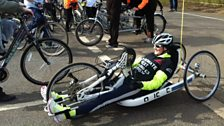 Image for Claire Lomas launches 400 mile cycle