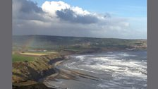 Ravenscar in North Yorkshire where Vaughan Williams almost drowned. Taken by James.