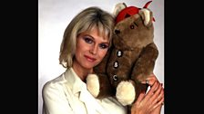 Joanna Lumley and the first EVER Pudsey!