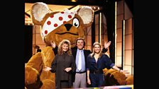 Sue Cook, Terry, Anneka Rice and a HUGE Pudsey in 1987
