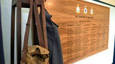 Commemorative plaque of those who served on the Dambusters Raids