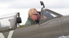 Chris Evans flies in a Lancaster Bomber to mark the 70th anniversary of the Dambusters