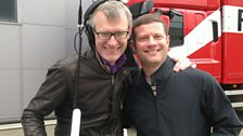 Jeremy with Dermot O'Leary, who are presenting a Friday Night Is Music Night  Dambusters special