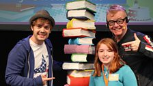 Gold 10-13 winner Olivia Hunt with Chris and Barney Harwood, who read her story 'Your Life'