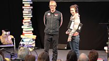 Chris and Producer Sam meet our 500 WORDS audience, which was made up of shortlisted writers and some of our volunteer judges