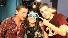 Laura Tobin came dressed in special glasses