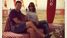 Matt and Alex in the Weston Super Mare beach studio