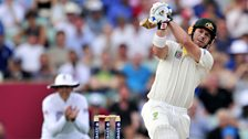 Image for The Ashes: David Warner caught and bowled by Anderson