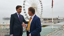 Miliband and Marr in Brighton