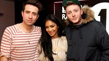 Image for Nicole and X Factors Jahmene chat to Grimmy