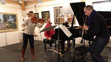 London Conchord Ensemble - rehearse Mozart's rarely performed Kegelstatt Trio K498 at Champs Hill