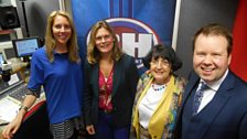 Image for Laura with the BBC Bargain Hunt team
