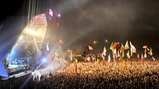 Image for The Edge talks to Jo Whiley and Zane Lowe at Glastonbury 2010