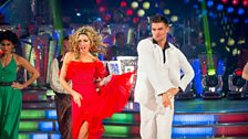Image for Abbey Clancy & Aljaz dance the Salsa to 'You Should Be Dancing'