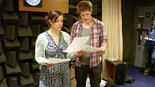Joanna van Kampen (Fallon) and Scott Arthur (Rhys) in the dead room