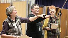 Julie Beckett (directing), Ryan Kelly (Jazzer) and Carole Boyd (Lynda)