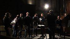 Tallis Scholars rehearsing Hassler's Gloria on Tuesday 17th December