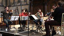 The Heath Quartet rehearse with Mark Simpson