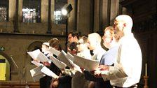 The men of Temple Church choir