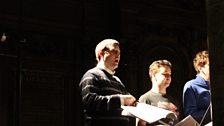 Tom Williams (counter-tenor) rehearsing the solo in Domine Deus from Vivaldi's Gloria RV 589 on Thursday 19th December