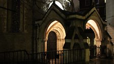 The Norman entrance to the Sepulchre at Temple Church