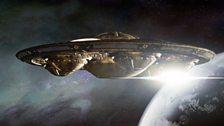 A mighty Dalek ship.