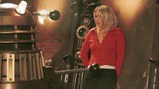 Rose and a Dalek.