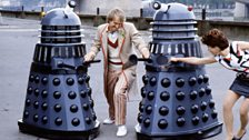 A publicity shot for Resurrection of the Daleks (1984)