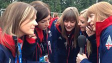 Image for Team GB Women's curling team speak to Dan Walker