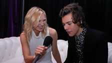 Image for Jo Whiley interviews Harry Styles backstage at the 2014 Brit Awards