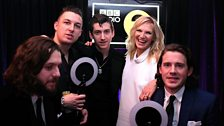 Image for Arctic Monkeys talk to Jo Whiley at the BRITs