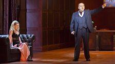 Sarah Tynan as Manon Lescaut and Adrian Thompson as Monsieur Lilaque