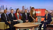 Andrew Marr with his guests on Sunday 22nd June