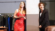 Jane Archibald as Zerbinetta and Ruxandra Donose as The Composer