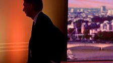 Hammond in silhouette