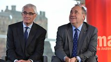 Alistair Darling and Alex Salmond (14 September)