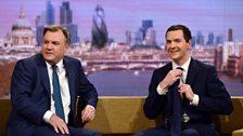 Chancellor George Osborne and Shadow Chancellor Ed Balls